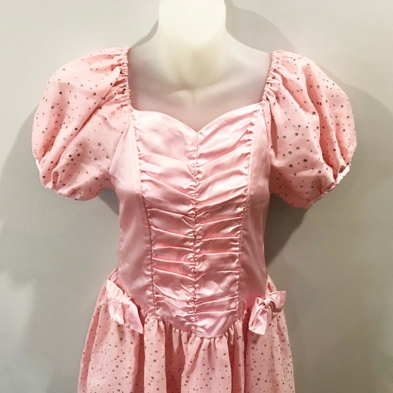 1980s kids pink party dress