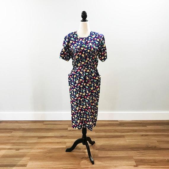 1980s does 1940s vintage summer dress