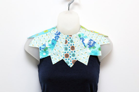 Vintage girl's collar made with multiple fabrics