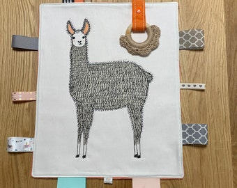 Smarty Llama Taggie Blanket