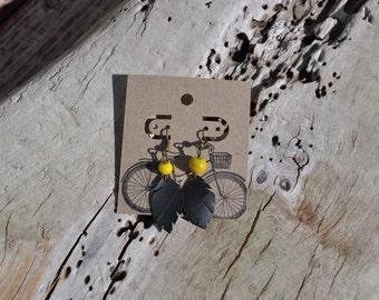 PETITE PERLE JAUNE - Boucles tube de vélo recyclées... style durable assuré pour toutes vos activités, caoutchouc noir ultra léger - SB052