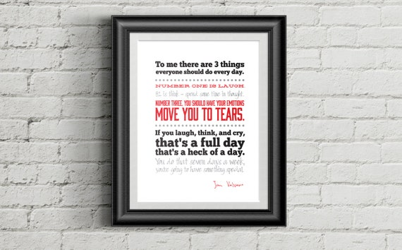 Jimmy V Full Day Quote DIGITAL DOWNLOAD Inspirational Print Etsy Mesmerizing Download Quote Of The Day