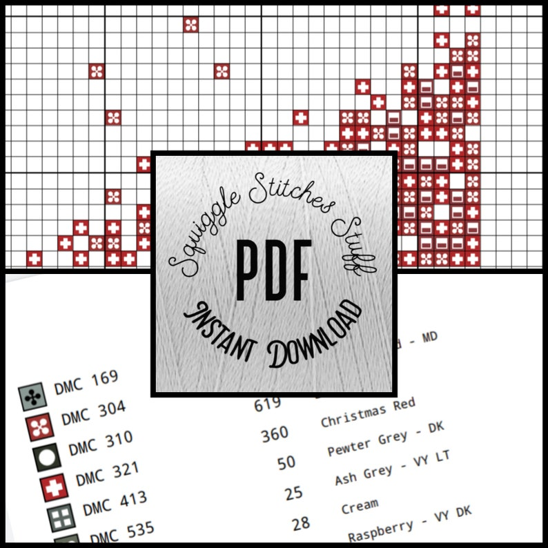 Instant download Living in Sin cross stitch pattern