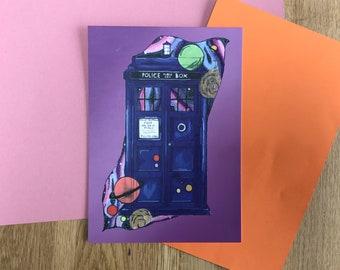 Tardis Postcard - Art Print - Doctor Who