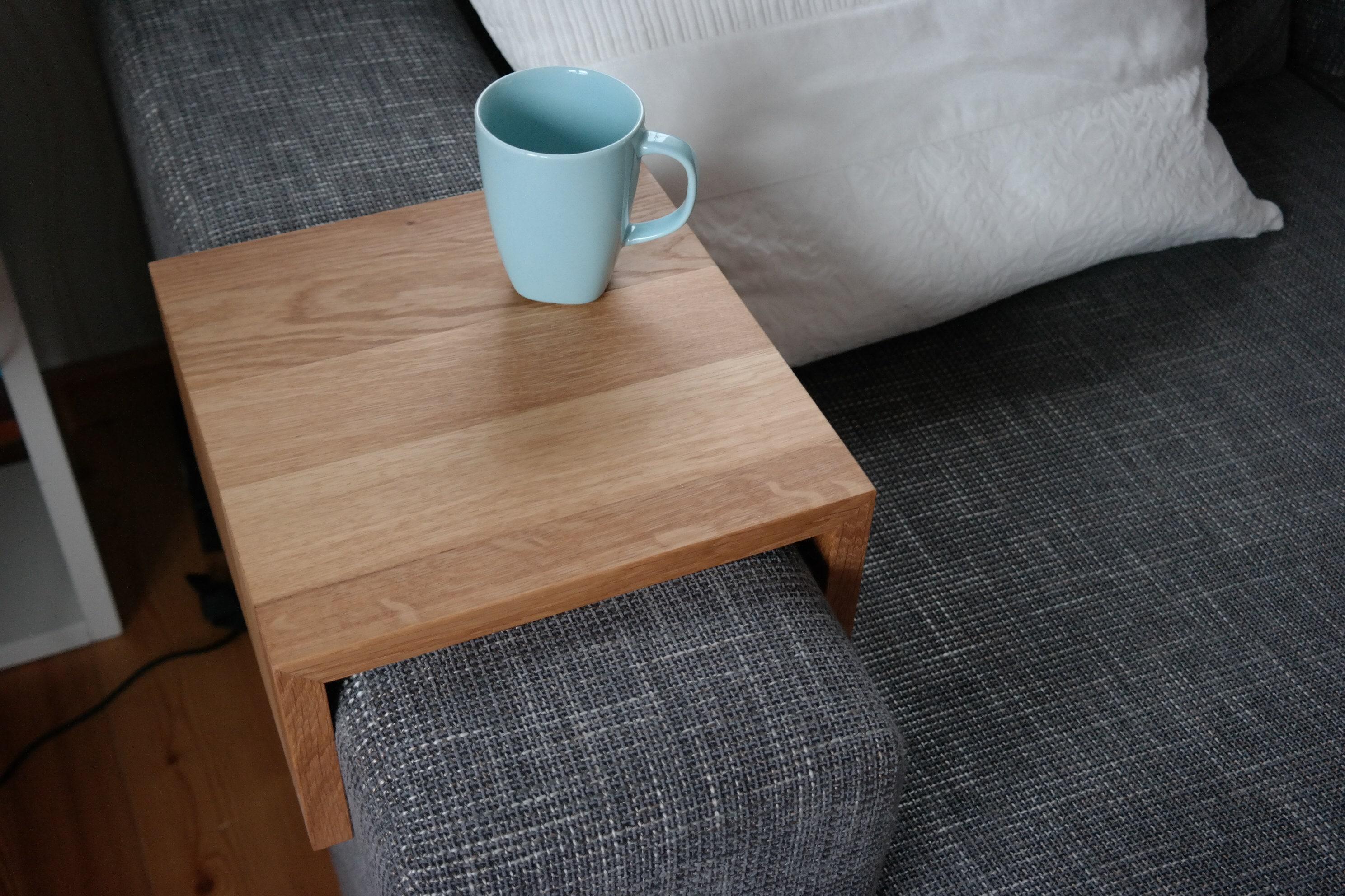 couchtisch ablage tablett für sofa couch eiche | etsy
