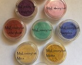 24 Mica Colors of Number 1 selling Micas CHOOSE Your 1 gram 1g Color Sample Pigment for Slime Soaps Cosmetic Makeup Resin CP MP Powder Loose