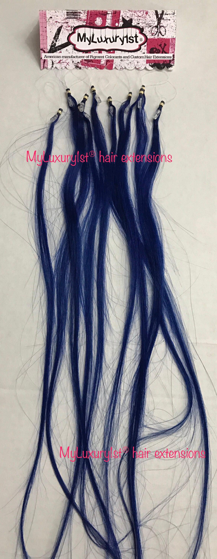 Royal Blue Micro Loop Remy Human Hair Extension Highlight Etsy