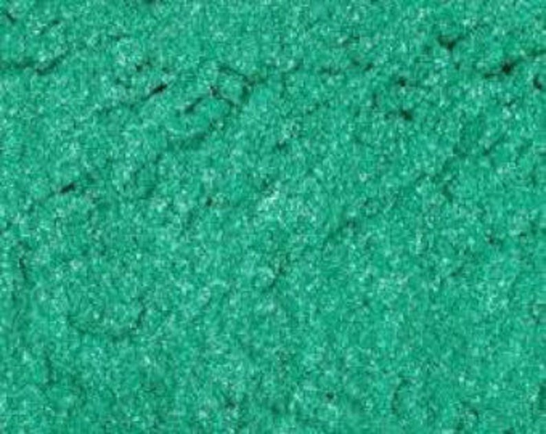 Teal Green MIca Shimmer Pigment Cosmetic Powder For Soap image 0
