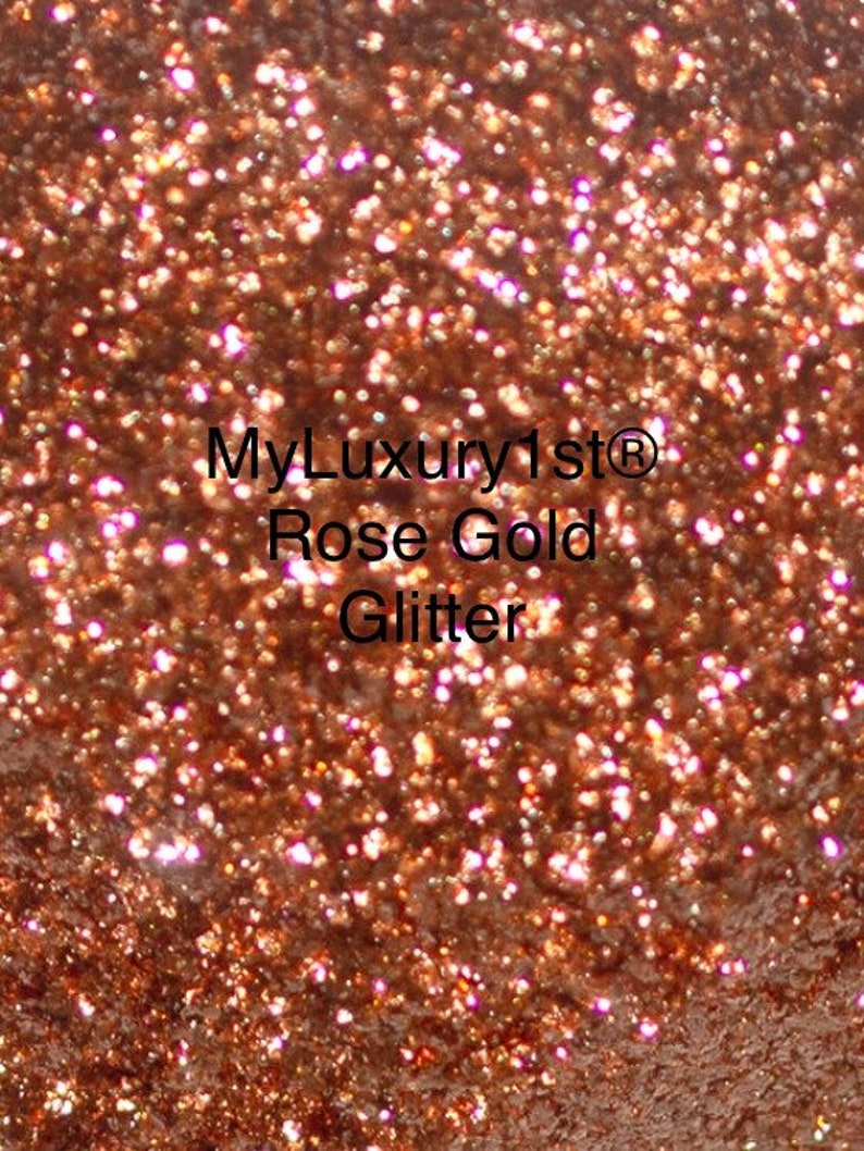 Rose Gold Glitter Pigment for Powder Soap Making Eyeshadow image 0