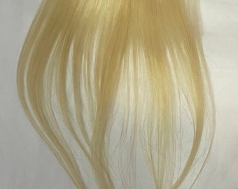 One Piece Straight Blonde Clip in Hair Streak for use as a Fill In, Filler piece, Extra Hair Extension 1 Piece Single Remy Human Hair Weft