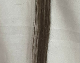 10 Micro Loop LIGHT ASH BROWN Hair Extension with Bead and Looper attached for Highlights or Streaks Real Remy Human Tipped Hair Extensions