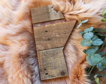 Manitoba Sign | Reclaimed Pallet Wood Decor | Province Outline | MB Cutout