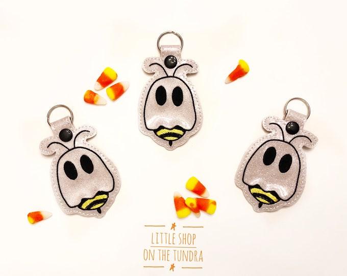 BOO Bees Snap Tab - Key Fob - Key Ring