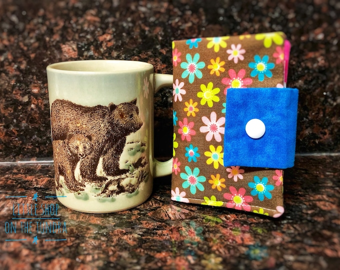 It's Tea Time!-Tea Wallet-Carry Your Own Tea Wallet-Teacher Gift-Mothers Day Gift-Handmade-Made in Alaska