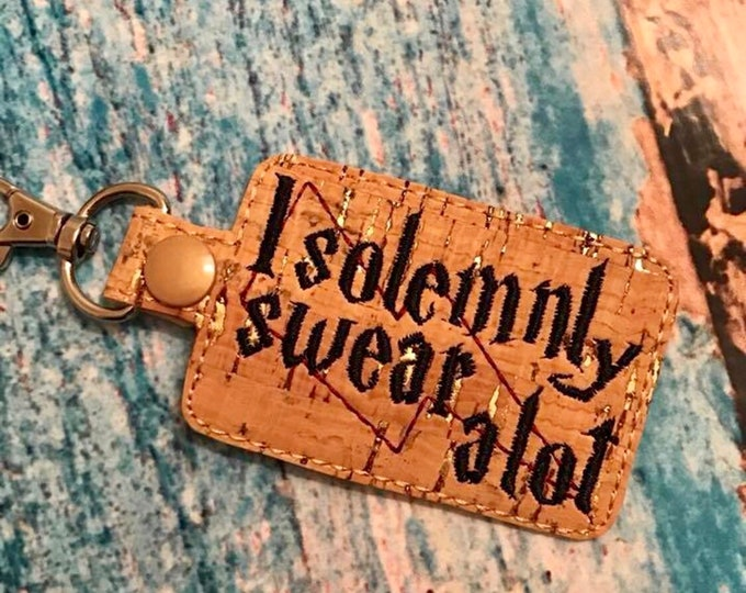 I Solemnly Swear A Lot Snap Tab - Key Fob - Key Ring