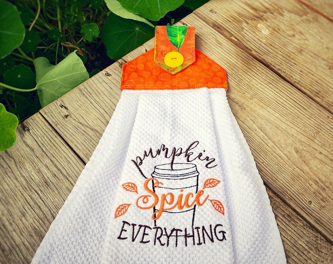 Pumpkin Spice EVERYTHING Embroidered Towels