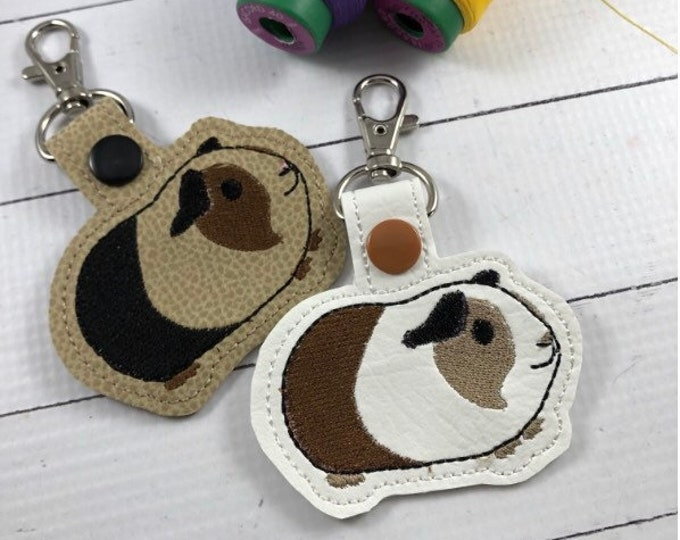 Guinea Pig Keyfob-Key Chain-Snap Tab-Luggage Tag