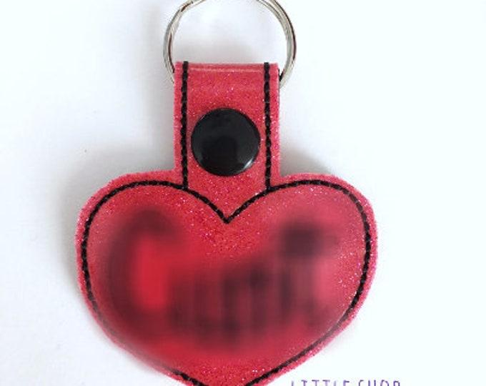 Adult Only - C*nt key fob, snap tab, key ring