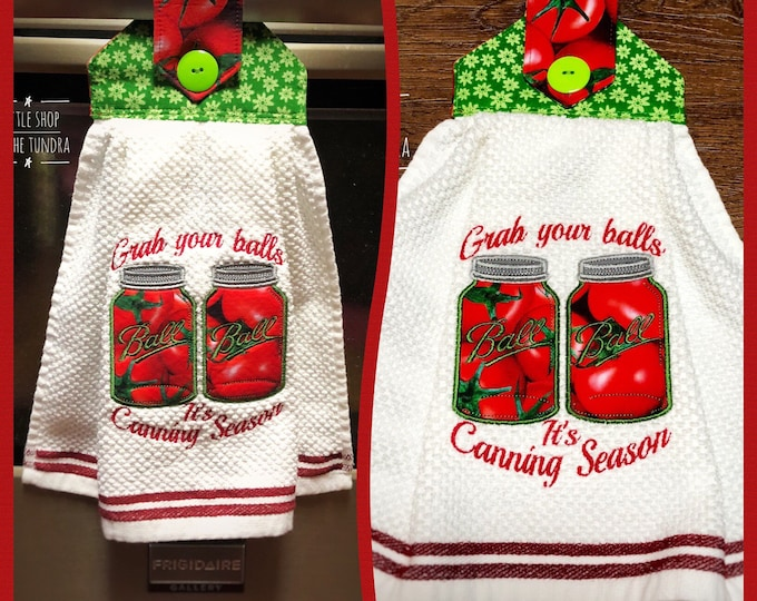 Ball Jar inspired Embroidered Towels