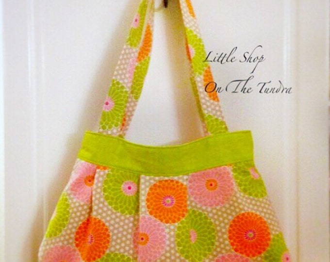 READY TO SHIP Pleated Tote/Hobo Bag