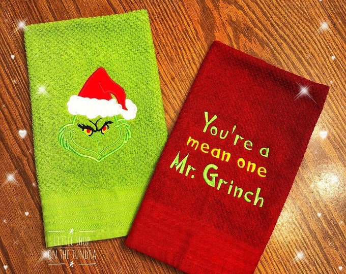 Mean One Embroidered Kitchen Towel