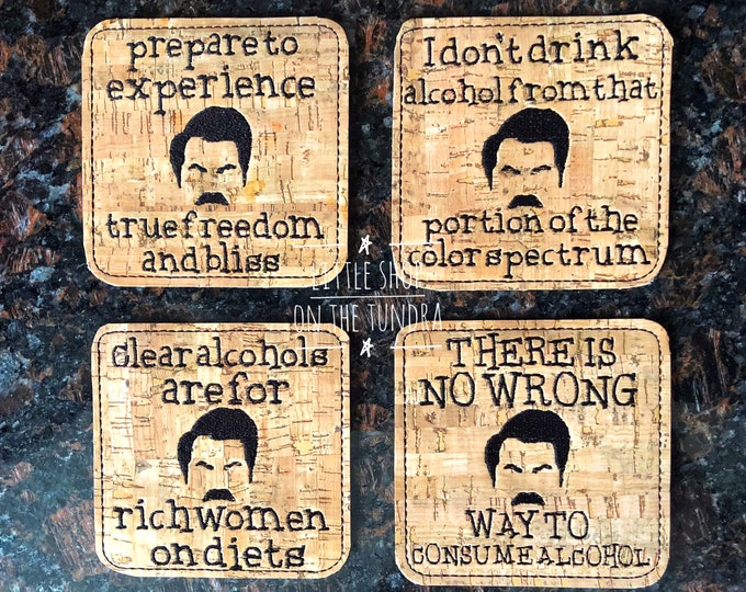 Table Coasters - Ron Swanson inspired