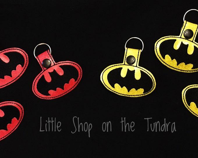 Bat Signal Keyfob-Key Chain-Snap Tab-Luggage Tag