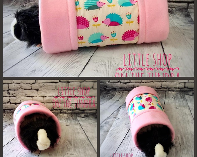 Guinea Pig Play Tunnel-Sleep Tunnel-Fleece Tunnel-Small Pet Bed-Guinea Pig Accessories-Guinea Pig Toy-Made in Alaska