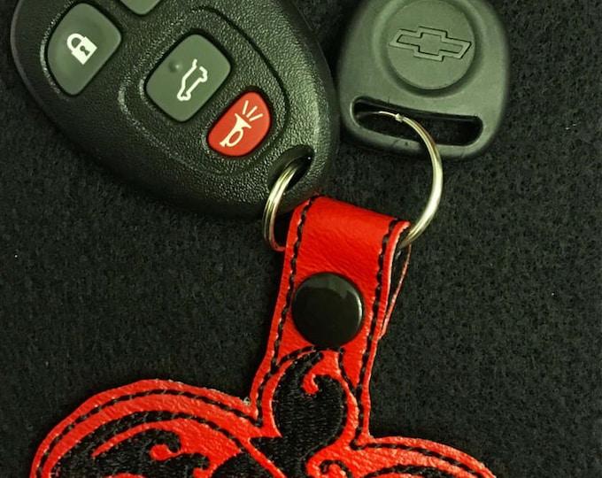 Sea Turtle Key Fob, Snap Tab, Key Ring