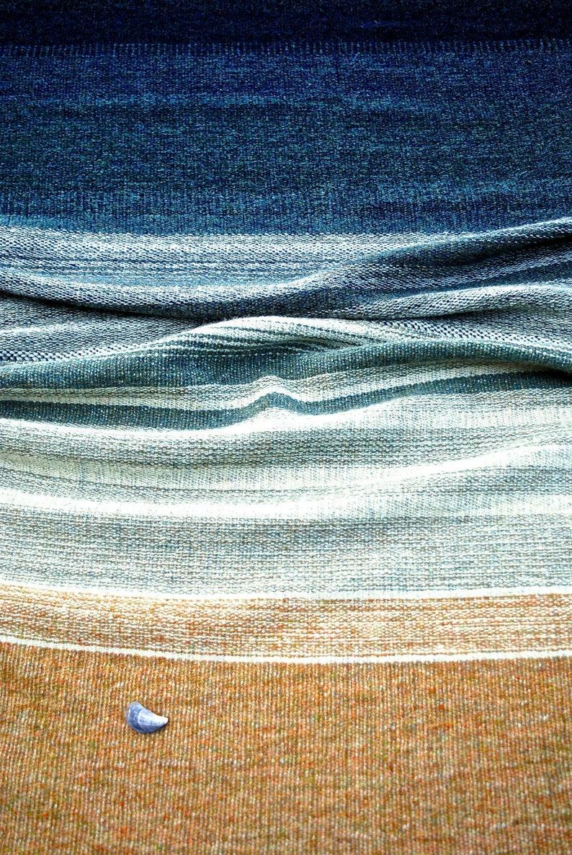 Seascape postcard: handwoven blanket image 0