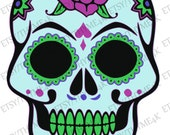 Cutting File SVG quot Sugar Skull quot Instant Download - design your way- HTV-tshirt, vinyl-mug, cardstock-card etc,