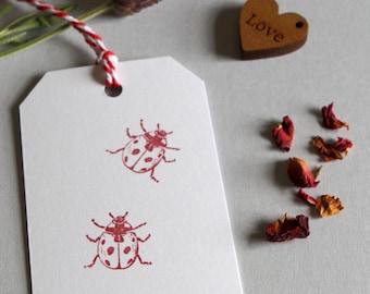 Ladybird Rubber Stamp Ladybug Uk Made