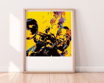 Louis Armstrong Contemporary Fine-Art Poster Print - O' What A Wonderful World