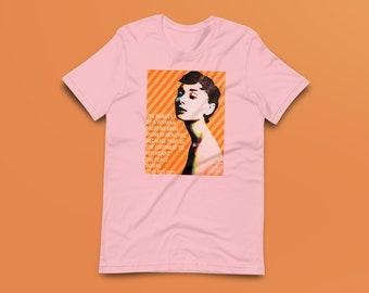 Audrey Hepburn Contemporary Fine-Art Short-Sleeve Unisex T-Shirt