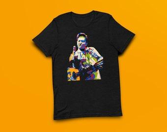 Johnny Cash Contemporary Fine-Art Short-Sleeve Unisex T-Shirt