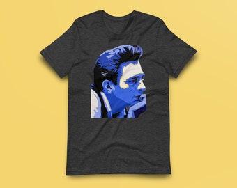 Johnny Cash Profile Contemporary Fine-Art Short-Sleeve Unisex T-Shirt