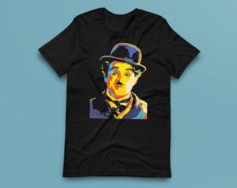 Charlie Chaplin Contemporary Fine-Art Short-Sleeve Unisex T-Shirt