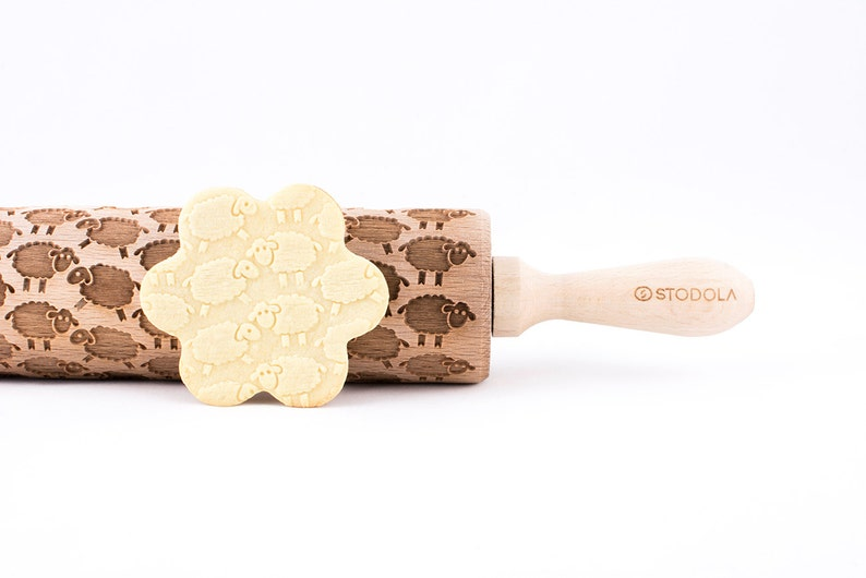engraved rolling pin for cookies Embossed SHEEP