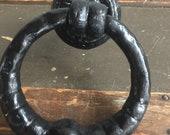 Vintage Cast iron ring door knocker