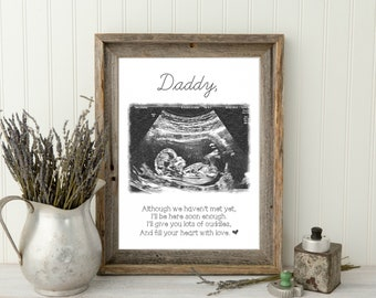 Father's Day Gift For Dad Best Dad First Father's Day Gift Dad Frame New Dad Gift, 1st Fathers Day Frame Gift First Father's Day Ultrasound