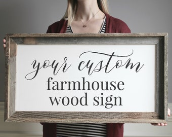 Farmhouse Sign for Home Design Your Own Custom Sign Sayings Quotes Custom Wood Sign Room Decor Quotes Living Gallery Wall Sign Wedding Gift
