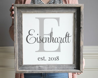 wooden sign christmas gift hostess last name sign wedding gift personalized wedding gift for newlyweds wedding gifts for couple - Christmas Gifts For Newlyweds