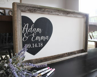 Rustic Wedding Guest Book Alternative, Wood Wedding Sign, Custom Wedding Guestbook, Wedding Gift Sign, Wedding Names and Dates