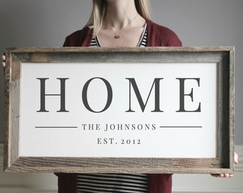 Welcome To Our Home Sign, Customize Signs, Last Name Wood Sign, Wall Decor, Wedding Gift, Anniversary Gift, Established Sign, Entryway