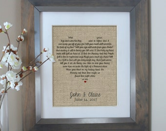 d97d66e78ffec Wedding Gift Husband Gift Wedding Song Lyrics Personalized Wedding Gift  First Dance Lyric Song Lyric Art Wedding Anniversary Gifts for Men