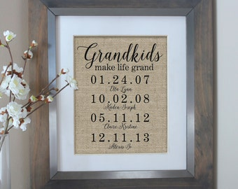Photo Gifts For Grandparents >> Grandparent Gifts Etsy