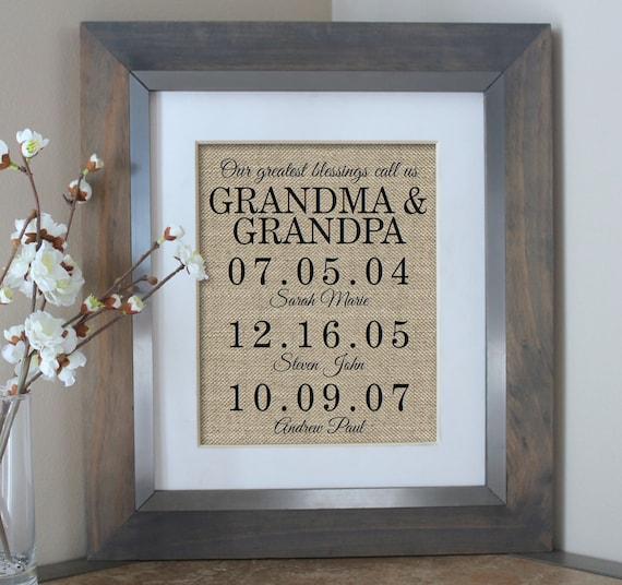 Grandparent\'s Day Gift Grandparents Day Christmas Gift | Etsy
