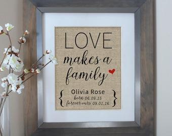 Adoption Gifts   Love Makes a Family Adoption Gift   Adoption Gift Print   Personalized Family Gift for Adoption Day   Adopting Baby Gift