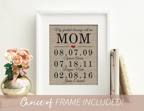 Christmas Gift Ideas Personalized Mom Gifts For Mom From Etsy