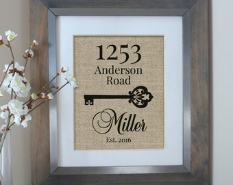 New Home Housewarming Gift | Address Sign | Our First Home | Housewarming Gift | First Home | New Homeowner | New Home | Real Estate Gift